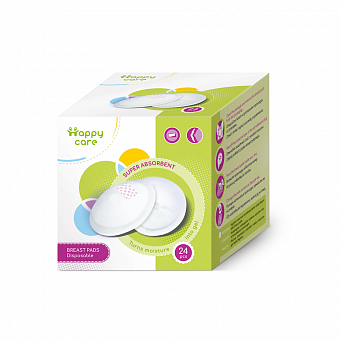 HAPPY CARE. Disposable Breast Pads, 24 pcs