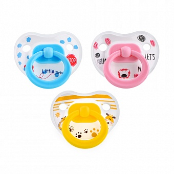 HAPPY CARE. Bonbons Silicone Soother with Protection Cap Size 1